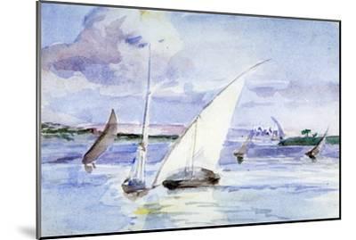 'A Lake with Sailing Boats', c1864-1930-Anna Lea Merritt-Mounted Giclee Print