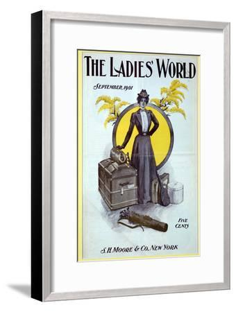 The Ladies World, magazine cover, 1901-Unknown-Framed Giclee Print