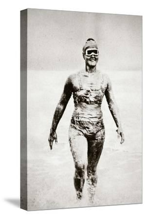 Gertrude Ederle, American swimmer, 1926-Unknown-Stretched Canvas Print