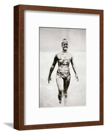 Gertrude Ederle, American swimmer, 1926-Unknown-Framed Photographic Print