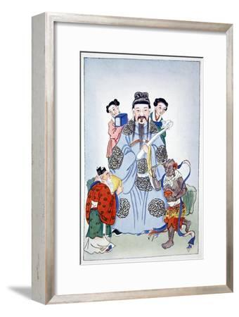 Wen Ch'ang, K'eui-Hsing and Chu I, 1922-Unknown-Framed Giclee Print
