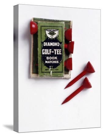 Diamond Golf Tee book of matches, c1900-Unknown-Stretched Canvas Print