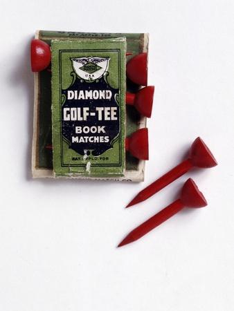 Diamond Golf Tee book of matches, c1900-Unknown-Framed Giclee Print