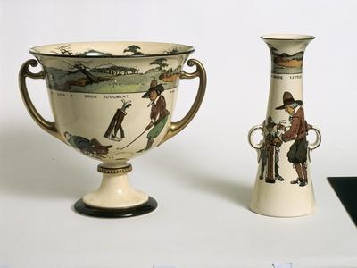 Royal Doulton Series Ware vases, c1915-Unknown-Framed Giclee Print