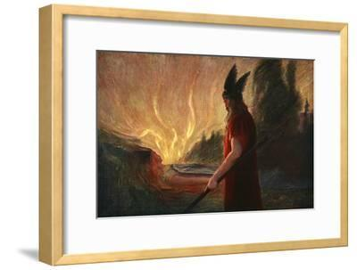 'As the Flames Rise, Wotan Leaves', 1906-Unknown-Framed Giclee Print