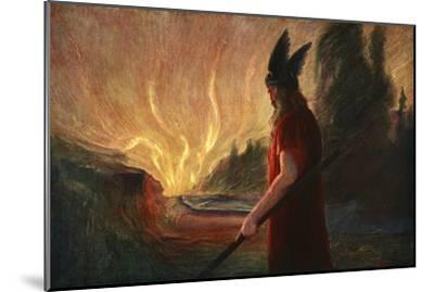 'As the Flames Rise, Wotan Leaves', 1906-Unknown-Mounted Giclee Print