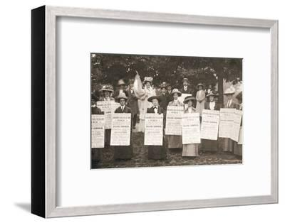 The suffragettes of Ealing, London, 1912-Unknown-Framed Photographic Print