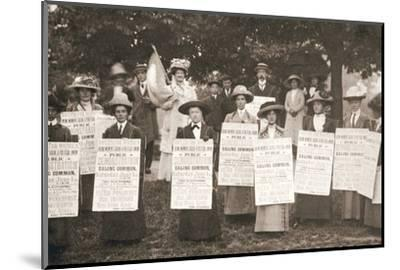 The suffragettes of Ealing, London, 1912-Unknown-Mounted Photographic Print