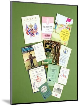 Various golfing programmes, 20th century-Unknown-Mounted Giclee Print