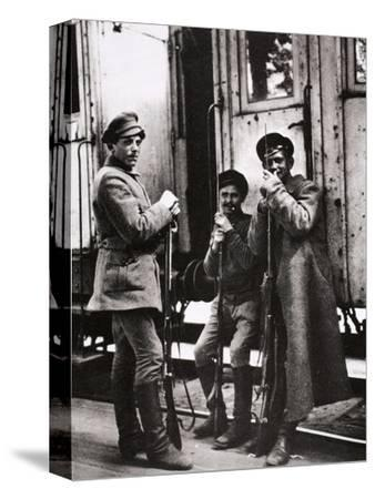 Young Red Guards, Russia, c1917-c1923(?)-Unknown-Stretched Canvas Print