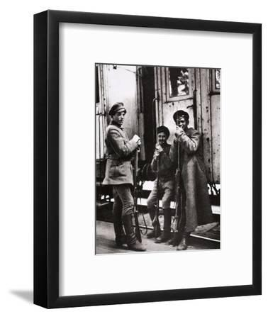 Young Red Guards, Russia, c1917-c1923(?)-Unknown-Framed Photographic Print