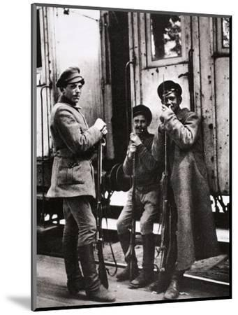 Young Red Guards, Russia, c1917-c1923(?)-Unknown-Mounted Photographic Print