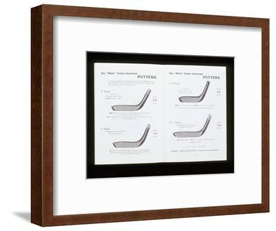 'Mills' patent aluminium putters, c1900s-Unknown-Framed Giclee Print