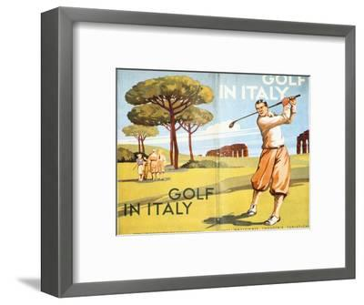 Pamphlet advertising golf in Italy, 1932-Unknown-Framed Giclee Print
