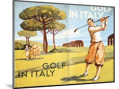 Pamphlet advertising golf in Italy, 1932-Unknown-Mounted Giclee Print