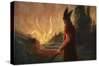 'As the Flames Rise, Wotan Leaves', 1906-Unknown-Stretched Canvas Print