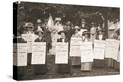 The suffragettes of Ealing, London, 1912-Unknown-Stretched Canvas Print