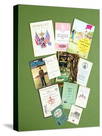 Various golfing programmes, 20th century-Unknown-Stretched Canvas Print