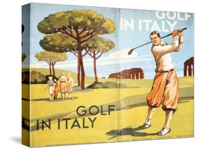Pamphlet advertising golf in Italy, 1932-Unknown-Stretched Canvas Print