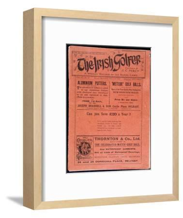 Cover of The Irish Golfer, March 19, 1902-Unknown-Framed Giclee Print