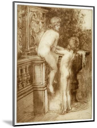'Two Boys at a Water Fountain', c1864-1930-Anna Lea Merritt-Mounted Giclee Print