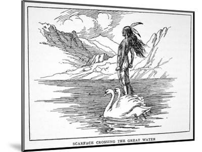 'Scarface Crossing the Great Water', 1925-Unknown-Mounted Giclee Print