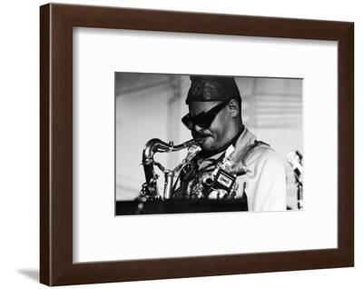 Roland Kirk, Ronnie Scott's, London, 1976-Brian O'Connor-Framed Photographic Print