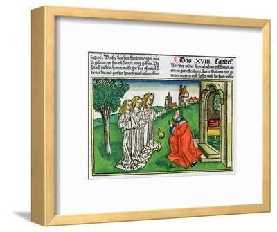 Genesis 18:2: Abraham and the three angels-Unknown-Framed Giclee Print