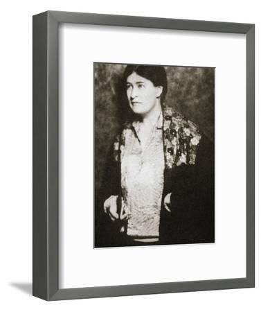 Willa Cather, American novelist, mid 1920s-Unknown-Framed Photographic Print