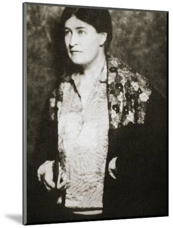 Willa Cather, American novelist, mid 1920s-Unknown-Mounted Photographic Print