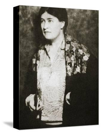 Willa Cather, American novelist, mid 1920s-Unknown-Stretched Canvas Print