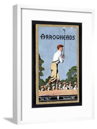 Arrowheads, magazine cover, Sandwich, 1927-Unknown-Framed Giclee Print