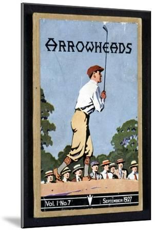 Arrowheads, magazine cover, Sandwich, 1927-Unknown-Mounted Giclee Print