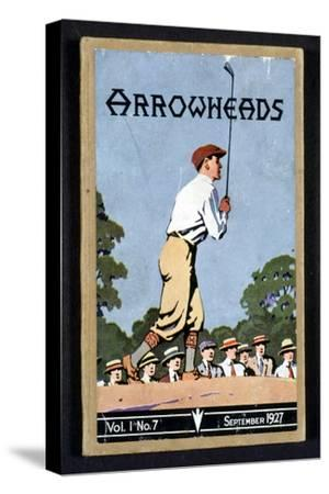 Arrowheads, magazine cover, Sandwich, 1927-Unknown-Stretched Canvas Print