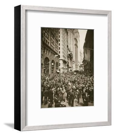 Crowds on Wall Street, New York, USA, 1918-Unknown-Framed Photographic Print