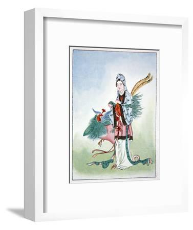 Hsi Wang Mu, ancient Chinese goddess, 1922-Unknown-Framed Giclee Print