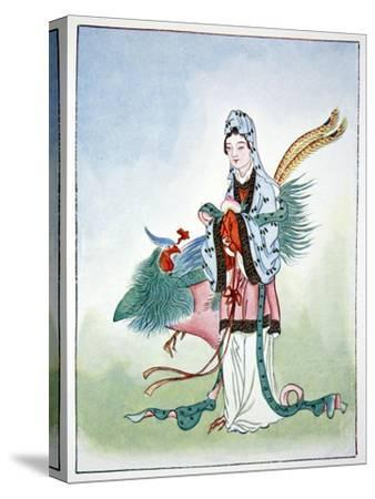 Hsi Wang Mu, ancient Chinese goddess, 1922-Unknown-Stretched Canvas Print