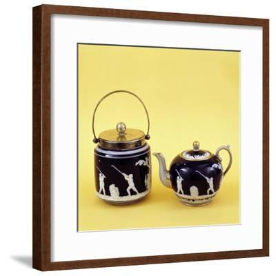 Copeland Spode golf-themed ceramics, c1905-Unknown-Framed Giclee Print