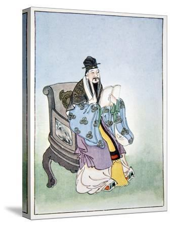 Mencius, ancient Chinese philosopher, 1922-Unknown-Stretched Canvas Print