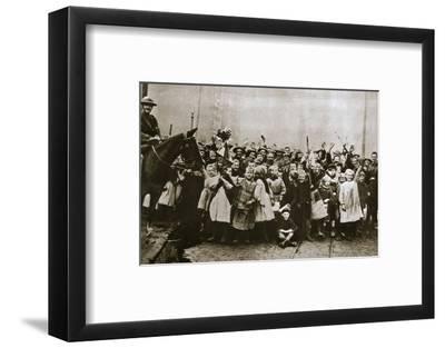 Lille delivered, France, World War I, 1918-Unknown-Framed Photographic Print