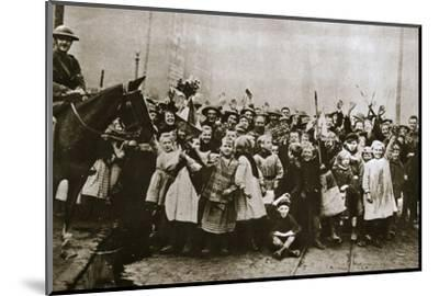 Lille delivered, France, World War I, 1918-Unknown-Mounted Photographic Print