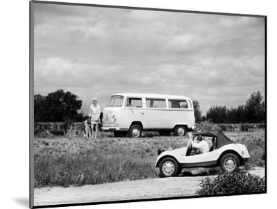 1971 VW camper van and Beach Buggy, (c1971?)-Unknown-Mounted Photographic Print