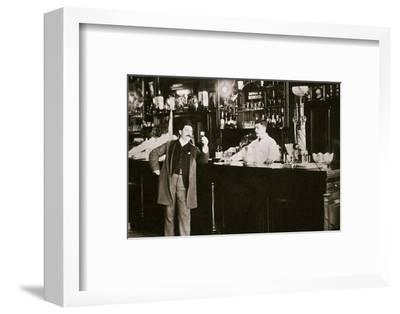 The Hoffman House Bar, New York, USA, 1900s-Unknown-Framed Photographic Print