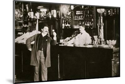 The Hoffman House Bar, New York, USA, 1900s-Unknown-Mounted Photographic Print