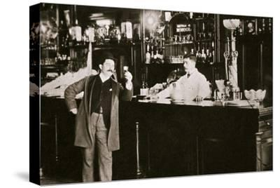 The Hoffman House Bar, New York, USA, 1900s-Unknown-Stretched Canvas Print