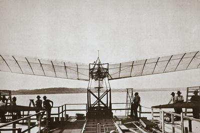 Professor Samuel P Langley's aeroplane, 1903-Unknown-Framed Photographic Print