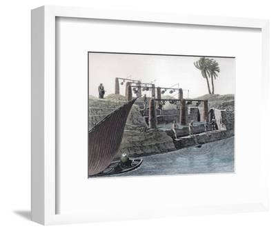 Collecting water from the Nile, Egypt, c1798-Unknown-Framed Giclee Print