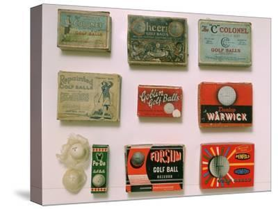Various golf ball boxes, early 20th century-Unknown-Stretched Canvas Print