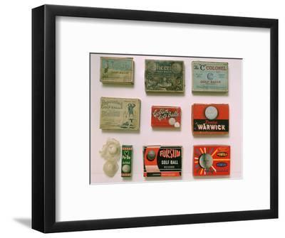 Various golf ball boxes, early 20th century-Unknown-Framed Giclee Print