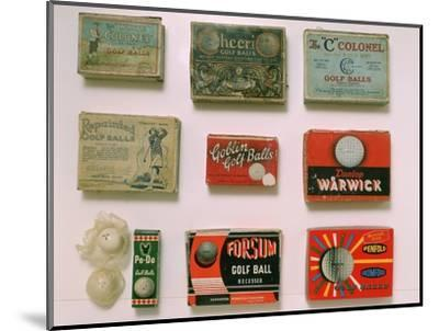 Various golf ball boxes, early 20th century-Unknown-Mounted Giclee Print